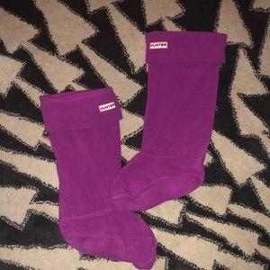 Hunter Tall Boot Socks - Fuchsia (M/L)